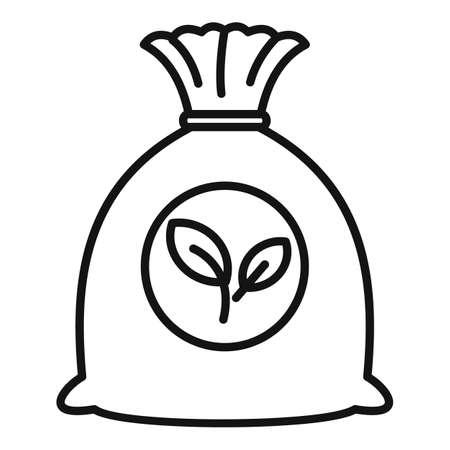 Fertilizer sack icon, outline style