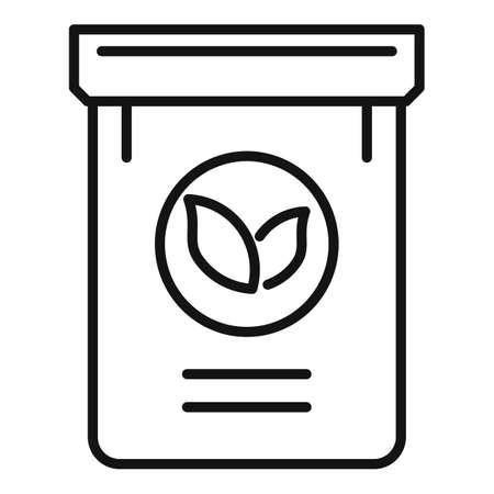 Fertilizer plant pack icon, outline style Illustration