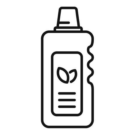 Eco fertilizer icon, outline style Illustration