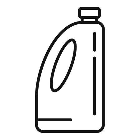 Organic liquid fertilizer icon, outline style Illustration