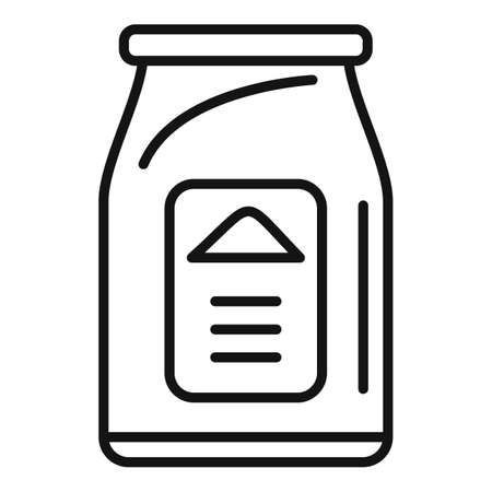 Bio compost pack icon, outline style Illustration