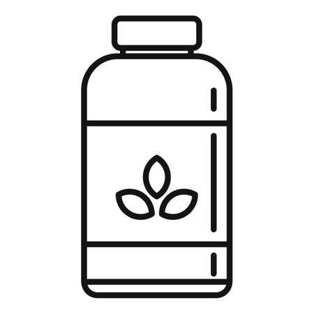 Garbage fertilizer icon, outline style