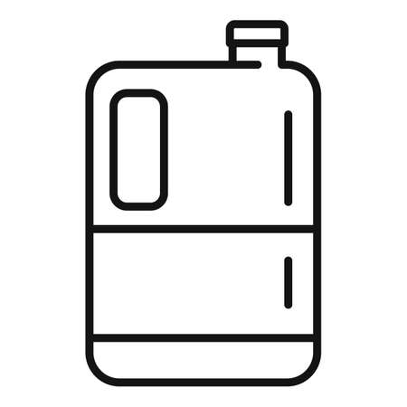Fertilizer canister icon, outline style Illustration