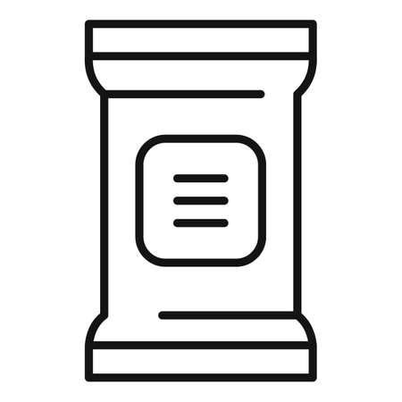 Ground fertilizer icon, outline style