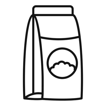 Manure fertilizer icon, outline style Illustration