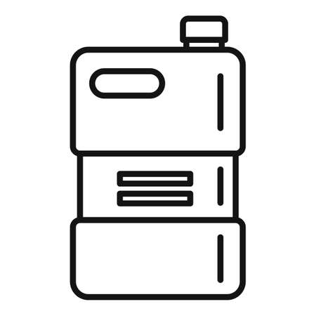 Bio fertilizer canister icon, outline style