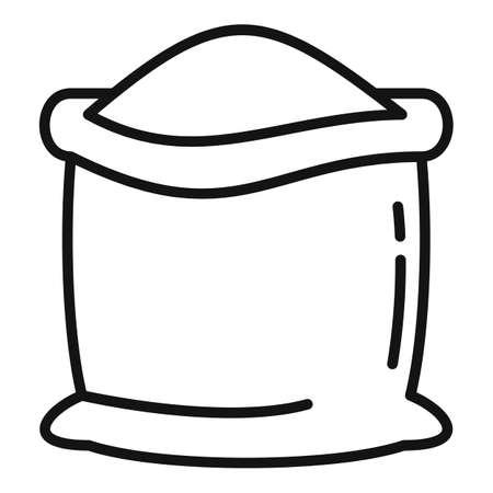 Farm sack compost icon, outline style Vettoriali