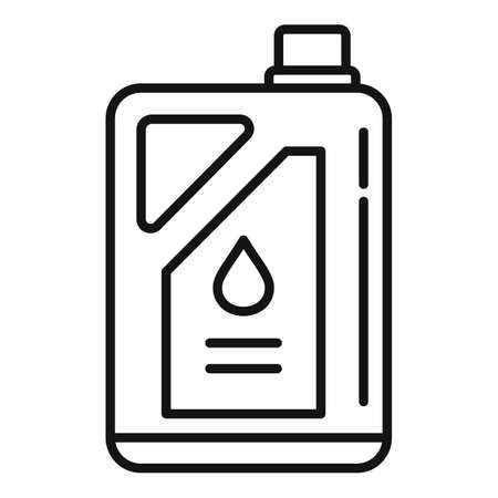 Chemical fertilizer canister icon, outline style
