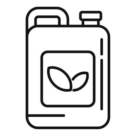 Pesticide canister icon, outline style