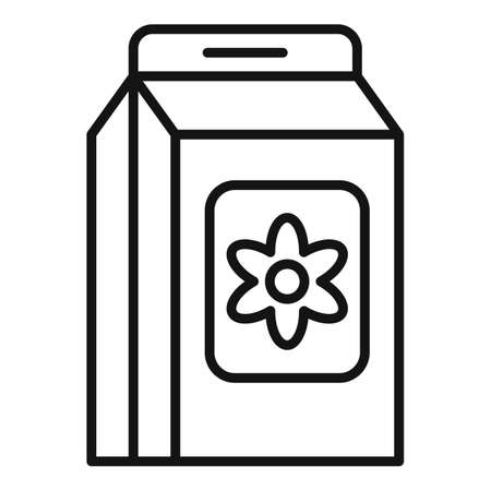 Flower compost icon, outline style