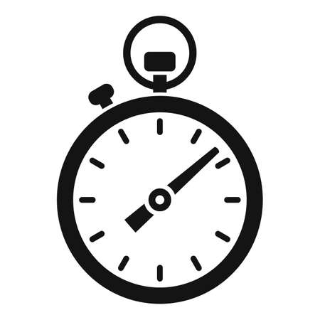 Running stopwatch icon, simple style Vecteurs