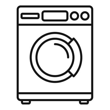 Tumble dryer icon, outline style Vektorgrafik