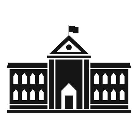 Parliament architecture icon, simple style