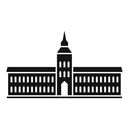 Capitol parliament icon, simple style