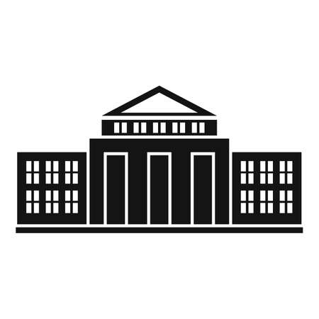 Parliament court icon, simple style