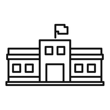 Parliament facade icon, outline style