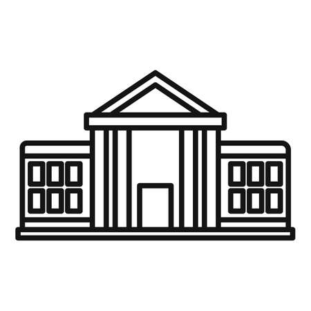 Parliament institution icon, outline style