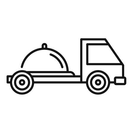 Food home delivery icon, outline style