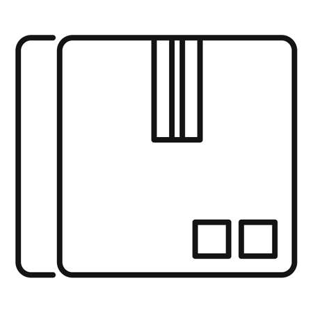 Parcel box icon, outline style Vettoriali