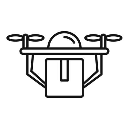 Drone home delivery icon, outline style