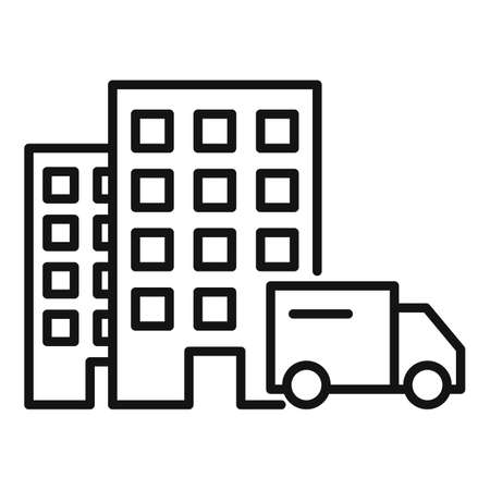 Home delivery icon, outline style