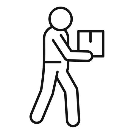Home delivery courier icon, outline style