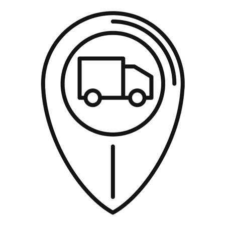 Tracking home delivery icon, outline style