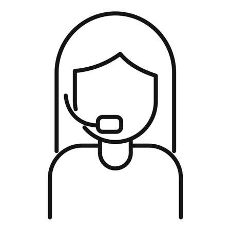 Call support home delivery icon, outline style