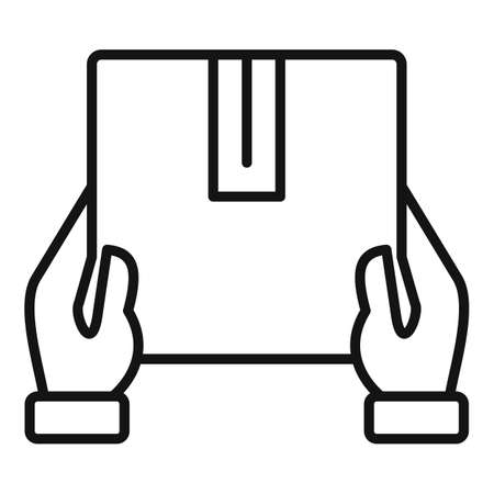 Box home delivery icon, outline style