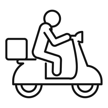 Scooter home delivery icon, outline style