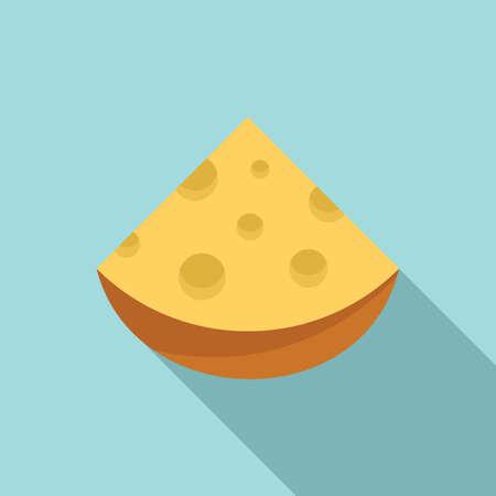Cheese feta icon, flat style