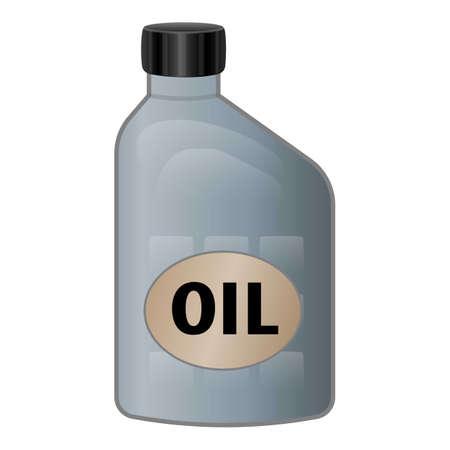 Car oil bottle icon, cartoon style
