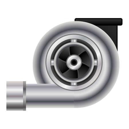 Car turbo icon, cartoon style