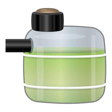Car liquid pot icon, cartoon style