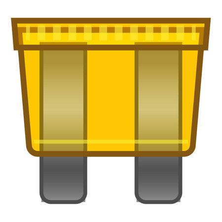 Car fuse icon, cartoon style