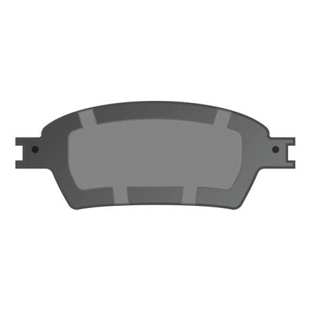 Car break pads icon, cartoon style