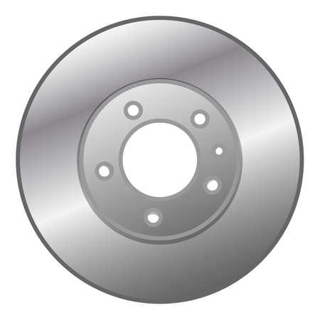 Car brake disc icon, cartoon style Vettoriali
