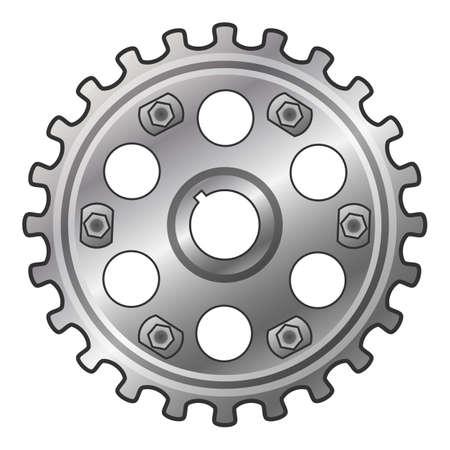 Car motor gear icon, cartoon style Vettoriali