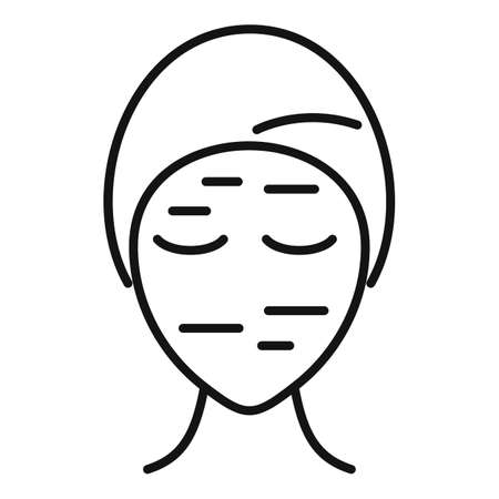 Wrinkles on face icon, outline style Vector Illustratie