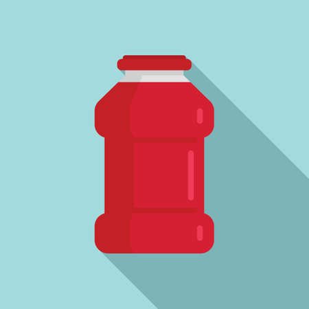 Ketchup bottle icon, flat style