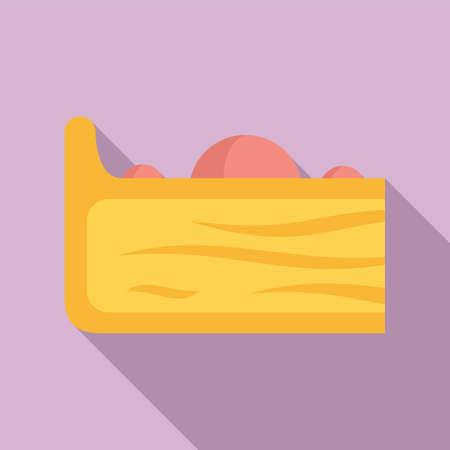 Cake slice icon, flat style Иллюстрация