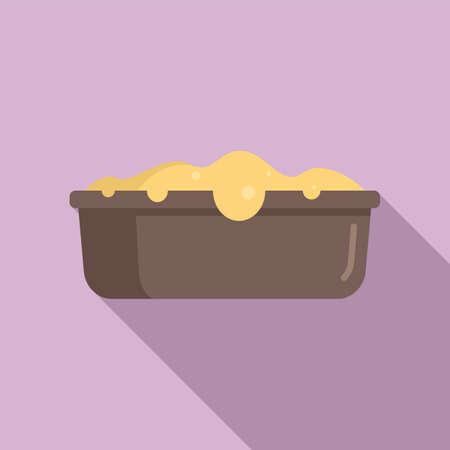 Baking cake icon, flat style Иллюстрация