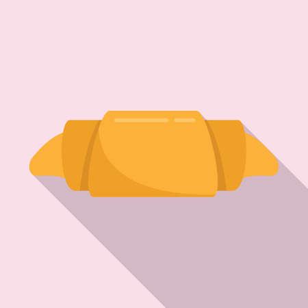 Croissant icon, flat style Иллюстрация