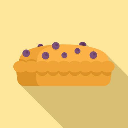 Berry cake icon, flat style