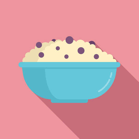 Rise bowl icon, flat style