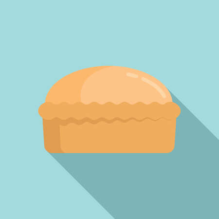 Homemade bread icon, flat style
