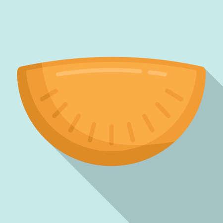 Cherry patty icon, flat style
