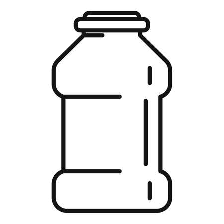 Ketchup bottle icon, outline style