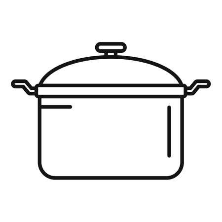Saucepan icon, outline style