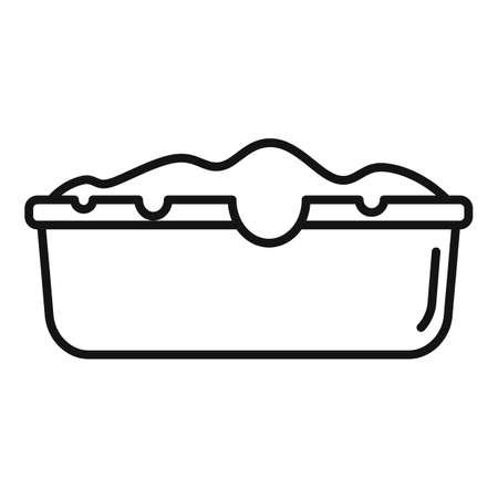 Baking cake icon, outline style